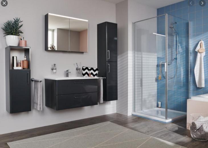 VIGOUR One Waschtisch-Unterschrank 800 x 500 x 480 Anthrazit  - zugehörig zu ONMWFC082