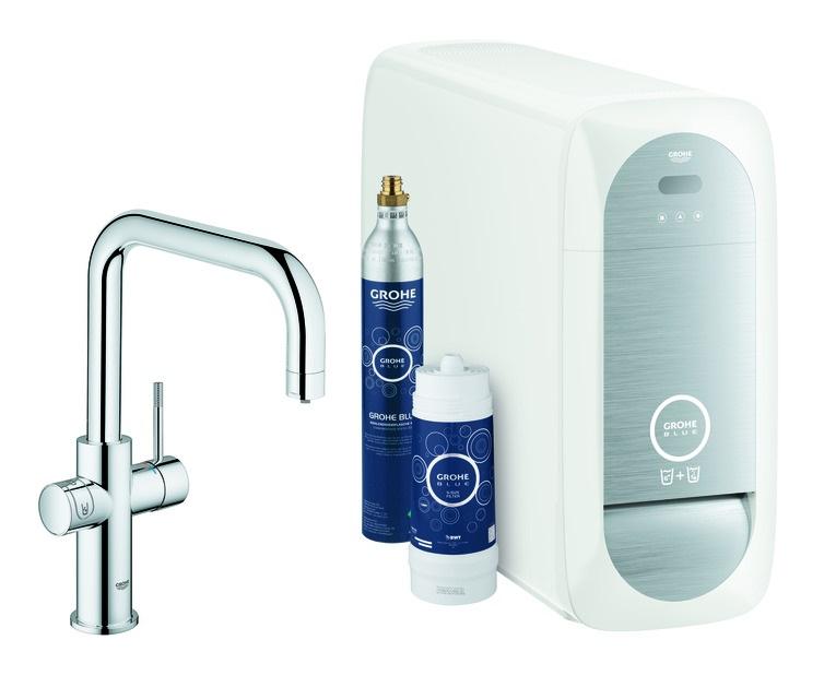 Grohe Blue Spültischarmatur mit U-Auslauf - Home Starter Kit Bluetooth/WIFI