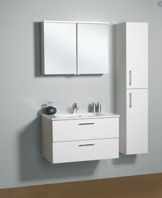VIGOUR Waschtisch-Unterschrank One WVMF060 600x500x480 Weiss Hochglanz - zugehörig zu ONMWFC062