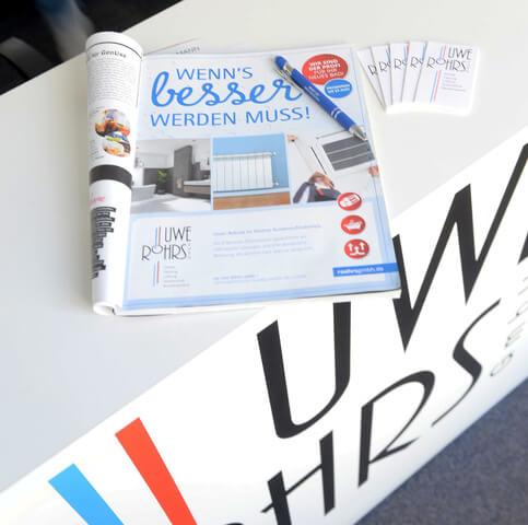 Kontaktdaten Röhrs Shop in Zeitschrift