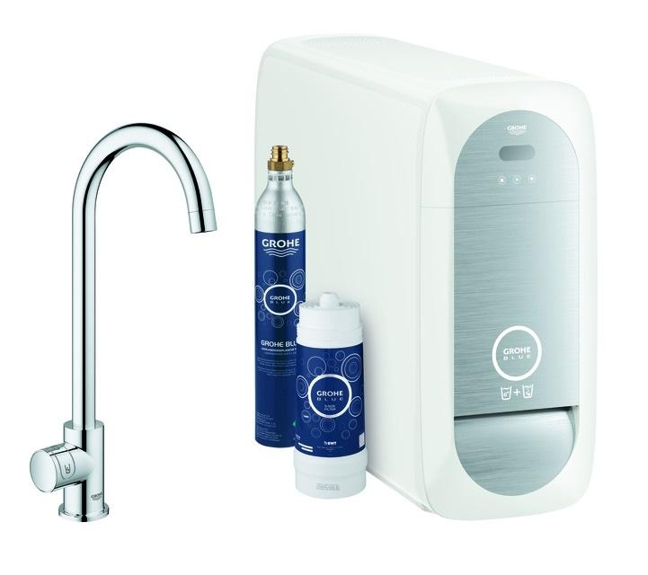 Grohe Blue Spültischarmatur mit C-Auslauf  - Home Mono Starter Kit Bluetooth/
