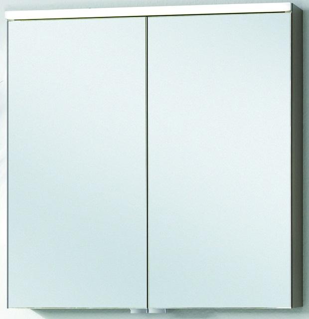 VIGOUR Spiegelschrank Hochglas Weiß - 600x170x620 One